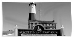 Vintage Looking Montauk Lighthouse Beach Sheet
