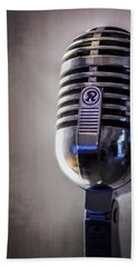 Vintage Microphone 2 Beach Towel