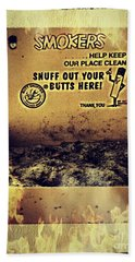 Vintage Mr. Butt Snuffer Ashtray Beach Towel by Peggy Franz