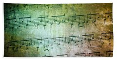 Vintage Music Sheet Beach Towel