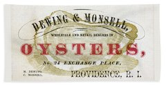 Vintage Oyster Dealers Trade Card Beach Sheet