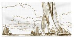 Vintage Oyster Schooners  Beach Sheet