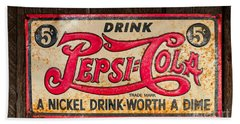 Vintage Pepsi Cola Ad Beach Sheet
