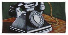 Vintage Phone 2 Beach Towel