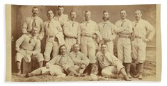 Vintage Photo Of Metropolitan Baseball Nine Team In 1882 Beach Towel