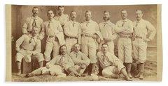 Vintage Photo Of Metropolitan Baseball Nine Team In 1882 Beach Sheet