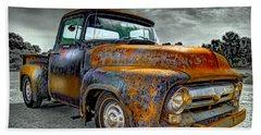 Vintage  Pickup Truck Beach Sheet