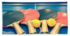 Vintage Ping-pong Bats Table Tennis Paddles Rackets Beach Towel
