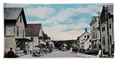 Vintage Postcard Of Wolfeboro New Hampshire Art Prints Beach Sheet