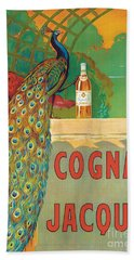 Vintage Poster Advertising Cognac Beach Towel by Camille Bouchet