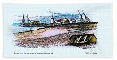 Vintage St Andrews At Pendlebury Lighthouse Beach Towel
