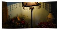 Vintage Still Life And Lamp Beach Towel