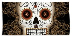Vintage Sugar Skull Beach Towel