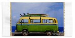 Vintage Surf Van Beach Towel by Diane Diederich