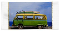 Vintage Surf Van Beach Sheet