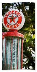 Vintage Texaco Gas Pump Beach Sheet