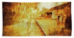 Vintage  Railway Portland Pa Usa Beach Towel