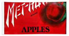 Vintage Washington State Apple Warehouse Label Met-how Art Prints Beach Sheet