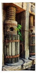 Vintage Wine Press Beach Sheet
