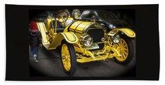 Vintage Yellow Roadster Beach Sheet