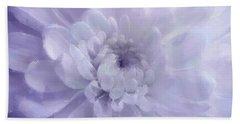 Violet Mum Luminous Painted Blossom Beach Sheet