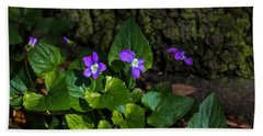 Violets Beach Towel