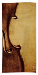 Violin Portrait  Beach Towel