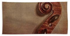 Violin Scroll Beach Towel