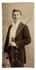 Violinist, C1900 Beach Towel