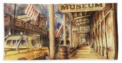 Virginia City Nevada - Western Art Painting Beach Sheet