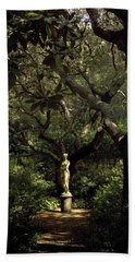 Beach Towel featuring the photograph Virginia Dare Statue by Greg Reed