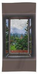 Vision Through The Window Beach Towel by Hanny Heim