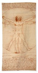 Vitruvian Man Beach Sheet