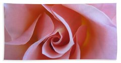 Vivacious Pink Rose Beach Towel