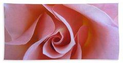 Vivacious Pink Rose Beach Sheet