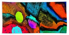 Beach Towel featuring the digital art Vivid Mix by Dee Flouton