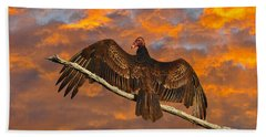 Vivid Vulture Beach Towel