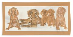 Vizsla Puppies Beach Towel