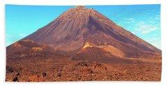 Volcano On Fogo, Cape Verde Islands Beach Towel