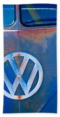 Volkswagen Vw Bus Emblem Beach Towel