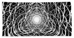Beach Towel featuring the drawing Vortex Equilibrium by Derek Gedney