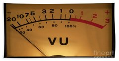 Vu Meter Illuminated Beach Towel