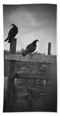 Beach Sheet featuring the photograph Vultures On Fence by Bradley R Youngberg