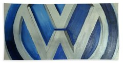 Vw Logo Blue Beach Sheet