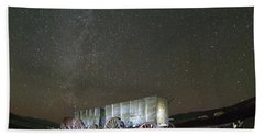 Wagon Train Under Night Sky Beach Towel