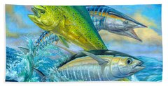 Wahoo Mahi Mahi And Tuna Beach Towel
