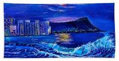 Waikiki Lights Beach Towel