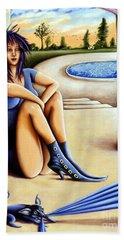 Waiting Beach Towel