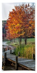 Walk Into Fall Beach Towel by Ronald Lutz