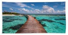 Walk Over The Water Beach Towel